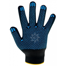 Перчатки хб ПВХ черные 10класс 4нити