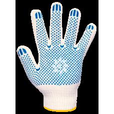 Перчатки хб ПВХ белые 10 класс 5 нитей