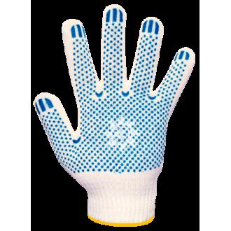 Перчатки хб ПВХ белые 10класс5 нитей