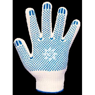 Перчатки хб ПВХ белые 10класс 4нити
